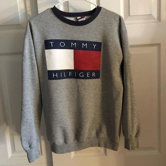 Vintage 90's Tommy Hilfiger Big Flag Logo Sweater